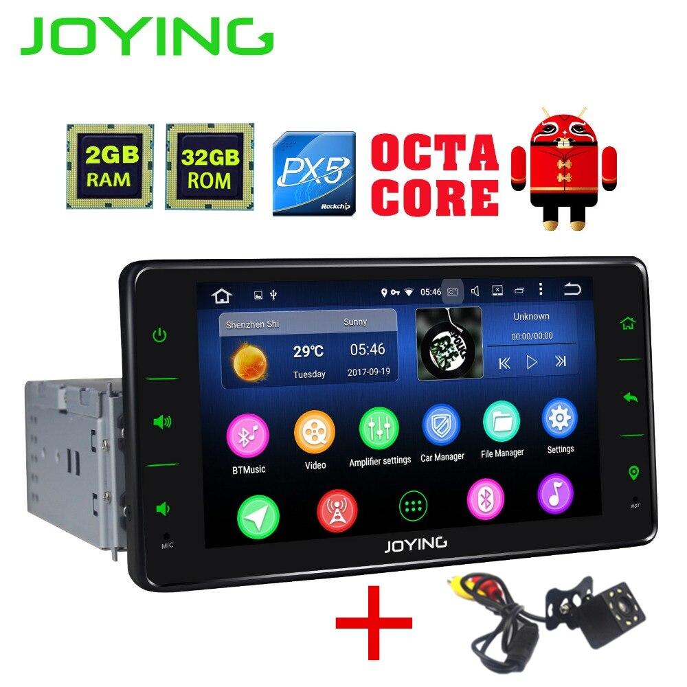 JOYING 2018 PX5 Android 8.0 car radio 1din 2gb+32gb Auto stereo GPS radio 6.2'' inch BT HD free back up rear view reverse camera gps магнитолу 1din