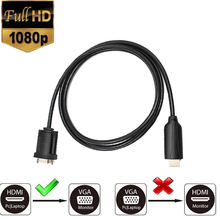цена на HDMI to VGA Adapter Digital to Analog Video Audio Converter Cable HDMI VGA Connector for Xbox 360 PS4 PC Laptop TV Box