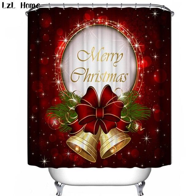 lzl home christmas bells shower curtain 3d douche gordijnen douchegordijn christmas snowman bathroom curtains rideau douche