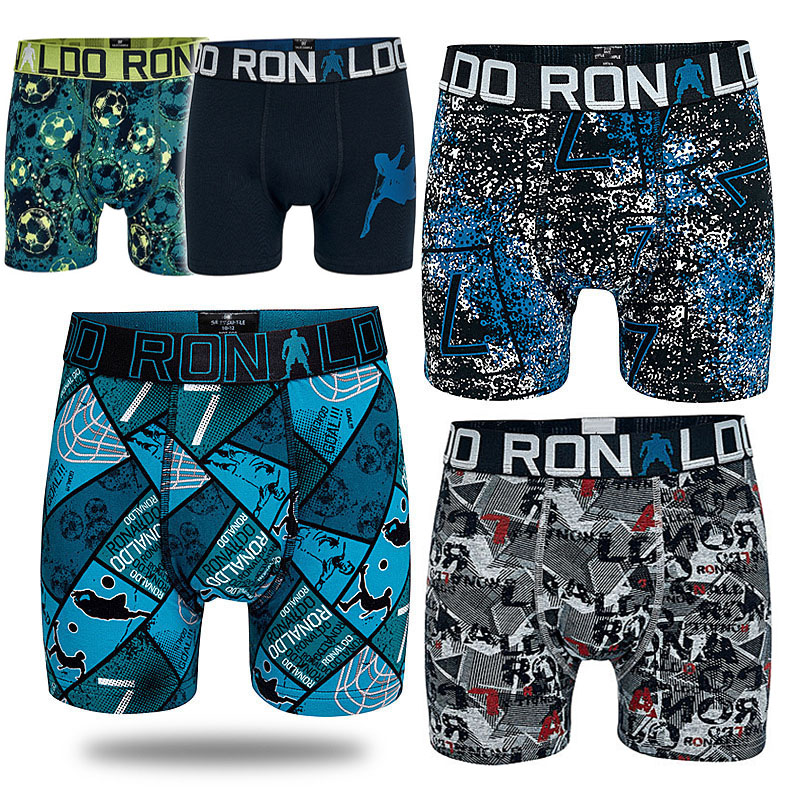 5Pieces Portugal Football Star Boys Multipack Boxers Denmark Brand Kids Trunk Child   Panties   Cotton Pants Teenage Underwear Cloth