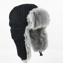 Wuaumx Winter Bomber Hat Russian Hat Men