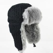 Wuaumx Зима куртка бомбер шляпа русский Для мужчин ушанки Кепки