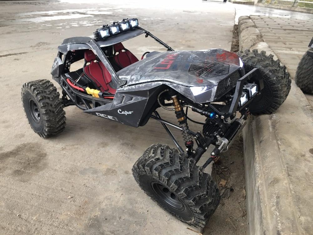CAPO ACE1 ROCK CRAWLER 1/10 RC Car 2.4G 4CH 4WD Rastreadores de Rock 4x4 Driving Car simulação carro de Escalada escalada escalada desempenho