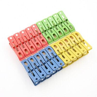 Đáng yêu New 20 Cái/lốc Giặt Quần Áo Pins Màu Treo Pegs Clips Heavy Duty Quần Áo Chốt Nhựa Móc Treo Racks Clothespins