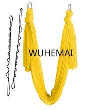 Wuhemai 4 м Йога гамак качели ткань воздушная тяговым полета антигравитации Длина настройки Йога пояс Йога зал