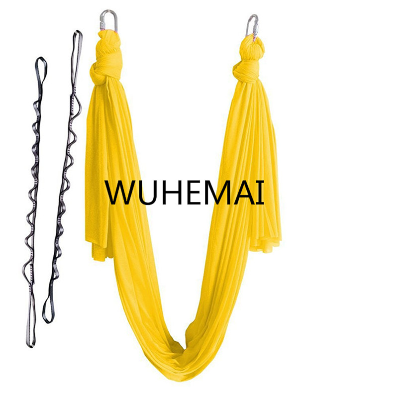 Wuhemai 4 meters Yoga hammock swing fabric Aerial Traction Flight Anti-gravity Length customization yoga belt of the yoga hall