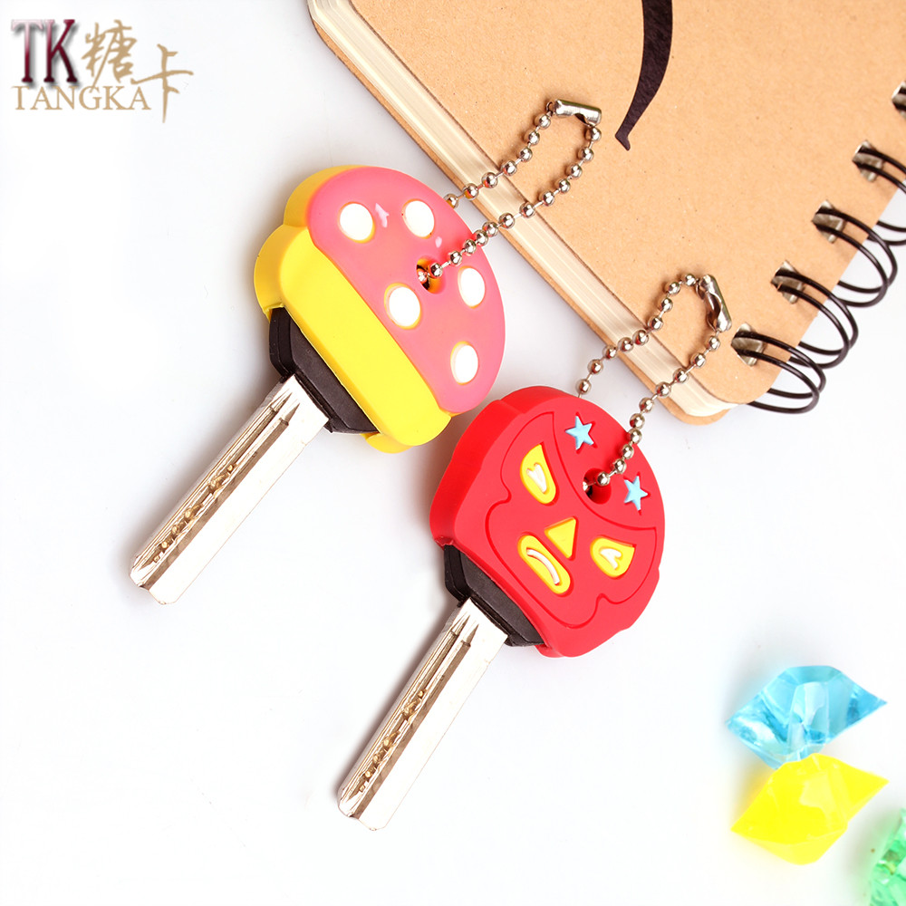 animals key sets silicone key chain accessories toys tricky birthday gift items car keychain chain ring keyring