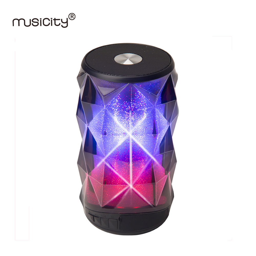 Outdoor Waterproof Speakers LED Portable Speaker Bluetooth for Phone PC with Column Loudspeaker USB SD Port Bass Music Tws 5w