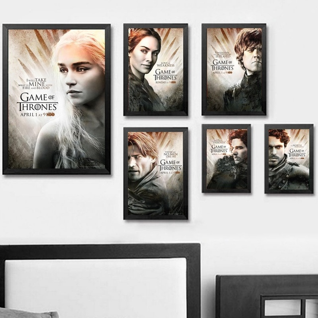 Game Of Thrones Wall Art Farba Scienna Decor Canvas Reprodukcji Na