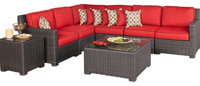 Muebles Rattan Baratos. Pc Patio Rattan Wicker Chair Sofa Table Set ...