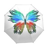 Creative Beautiful Butterflies Custom Portable Folding Travel Design Rain and Sun Beach Umbrellas Women Unique Parasol Umbrella