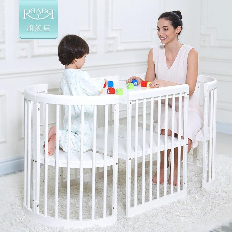 2017 new babyruler twins high end cribs european multi function variable desk bed solid wood. Black Bedroom Furniture Sets. Home Design Ideas