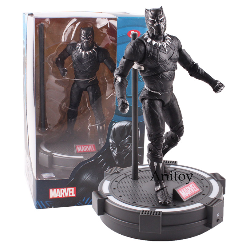 The Avengers Captain America Illuminati Black Panther PVC Action Figure Collectible Model Toy 17.5cm Marvel legends captain america civil war black panther helmet 1 1 scale hallowmas party cosplay helmet black panther pvc action figure kids toy