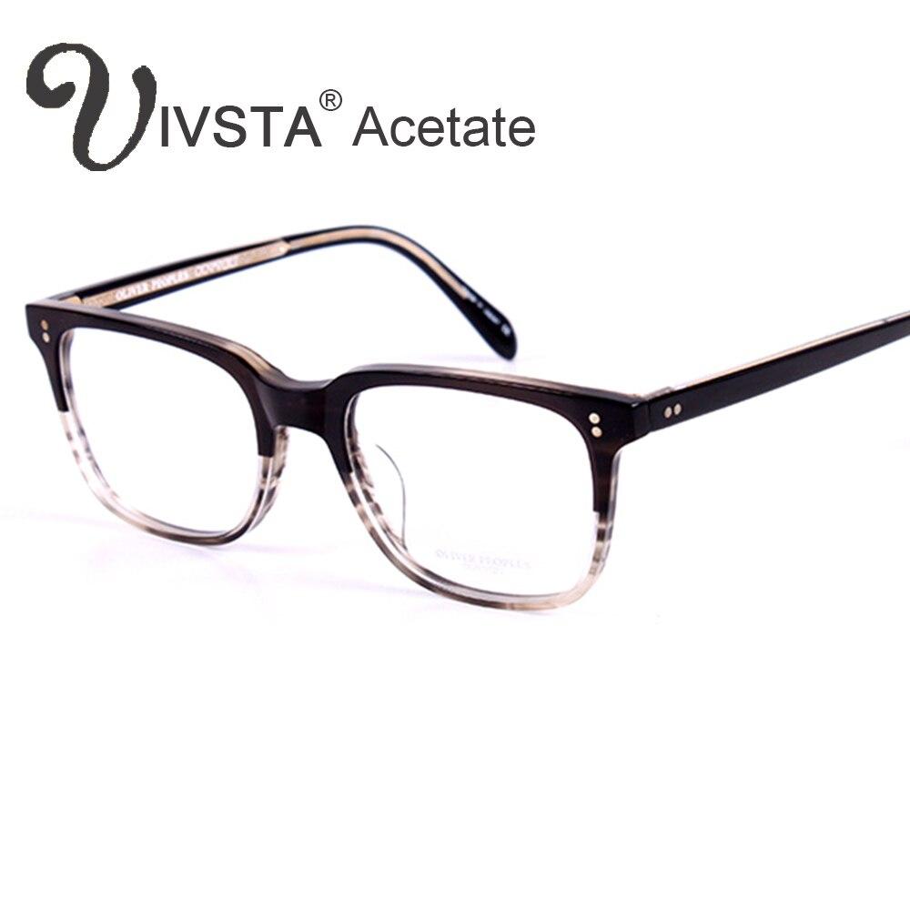 OV5031 Handmade Echt Acetat Brille Rahmen Johnny Depp Marke Männer ...