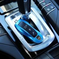3pcs Blue Fob Remote Key Case Key Cover Modified Key Shell Replace Refit Porsche Boxster Cayman
