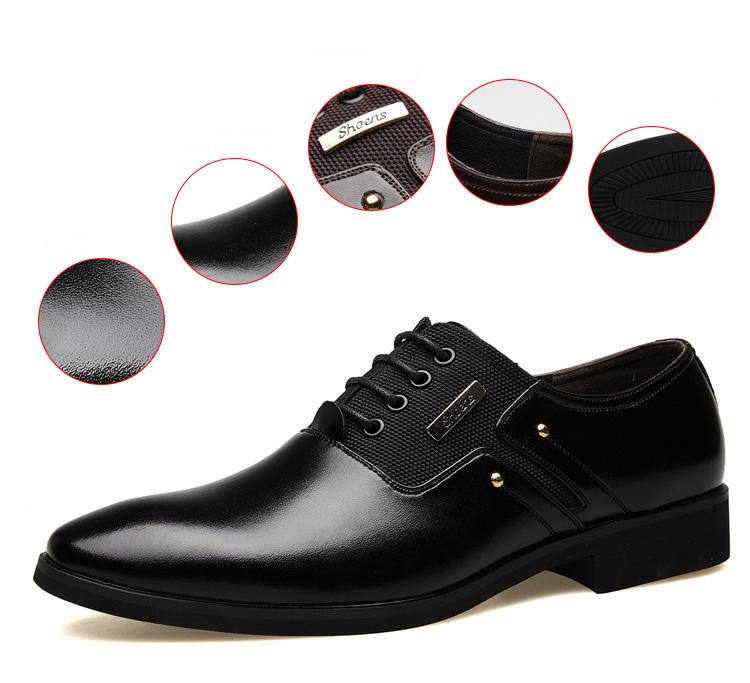 NPEZKGC Men Dress Shoes Slip-on Black Oxford Shoes For Men Flats Leather Fashion Men Shoes Breathable Comfortable Zapatos Hombre 3