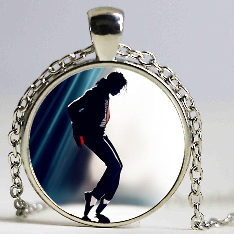 Michael Jackson Pendant Necklace dingyi 2016 New Punk Glass Necklace Michael Jackson Long Necklaces For Women Prime