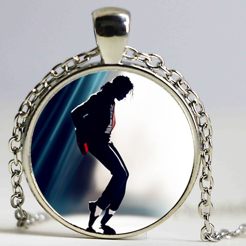 Michael Jackson Pendant Necklace dingyi 2016 New Punk Glass Necklace Michael Jackson Long Necklaces For Women Prime