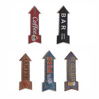 Arrow Shape Retro Art Wall Sticker Poster Vintage Metal Tin Sign Posters For Plaque Bar Pub Club Painted Tavern Home Decoration
