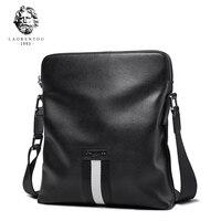LAORENTOU Men Shoulder Bag Cow Leather Crossbody Bags Brand Business Messenger Bag Brand Casual High Quality