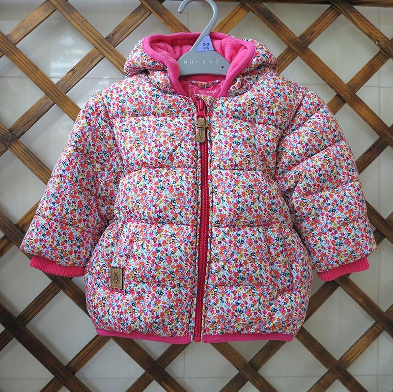 children/kids/girls autumn/winter padded jacket fleece lining, girl floral jacket, winter coat, size 1.5-6Y