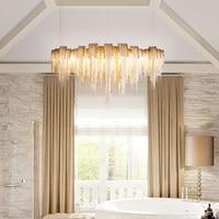 8 головок современный светодиодный подвесные светильники Мода Алюминий Hanginglamp Спальня Кухня Lampara светильники дерево Lampara домашнего освещен