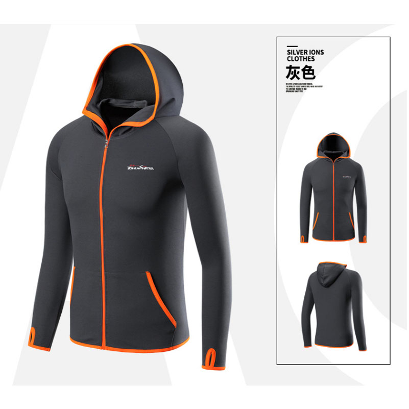 Fishing Clothing Hooded Men Jacket Anti UV Anti-Bacteria Shirts Waterproof Quick-Drying Coat Outdoor Long Sleeve Tshirt
