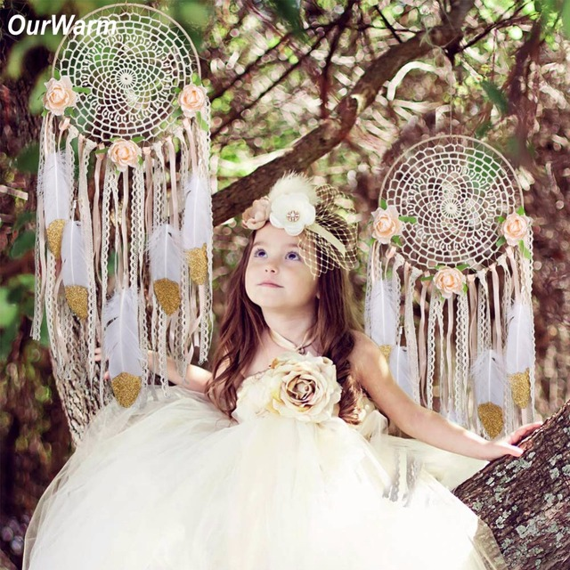 Ourwarm boho dream catchers wedding decoration handmade kit diy ourwarm boho dream catchers wedding decoration handmade kit diy craft party decoration wall hanging home kids junglespirit Choice Image