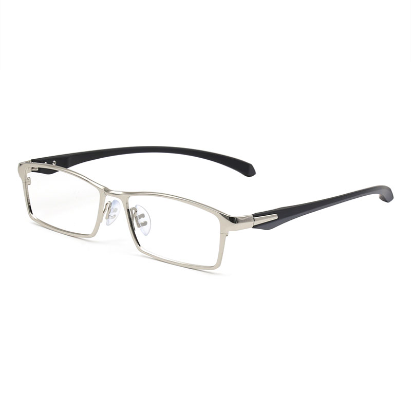 a77026ad7d Titanium IP Electronic Plating Alloy Metal Men Eyeglasses Frame Optical  Glasses Prescription Male Fashion Eyewear Spectacles-in Eyewear Frames from  Apparel ...