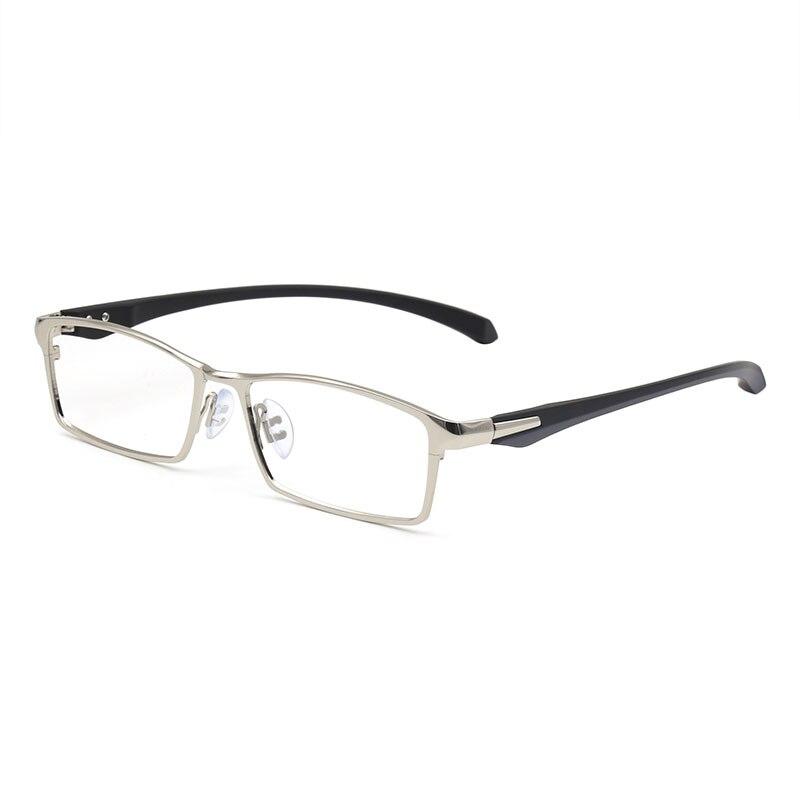 Titanium IP Electronic Plating Alloy Metal Men Eyeglasses Frame Optical Glasses Prescription Male Fashion Eyewear Spectacles
