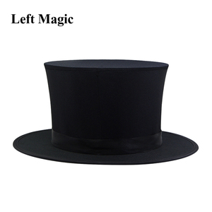 Image 4 - Folding Top Hat Spring Magic Tricks ( Black &  Playing Card Pattern )Appearing/Vanishing Objects Hat Stage Accessories Gimmick