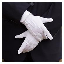 1 para zimowe rękawice przeciwsłoneczne UV damskie rękawiczki do jazdy samochodem super-elastyczne kobiety mężczyźni bawełniane białe rękawiczki Tuxedo formalne jednolite tanie tanio HEALMEYOU Polyester Dla dorosłych Stałe Nadgarstek Moda V11V44 white 23*8cm white gloves Serve gloves White Formal Gloves