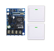 433mhz DC12V 24V 36V 48V 30A 1 CH RF Wireless Remote Control Receiver Transmitter quality wall controller Panel switch(China)