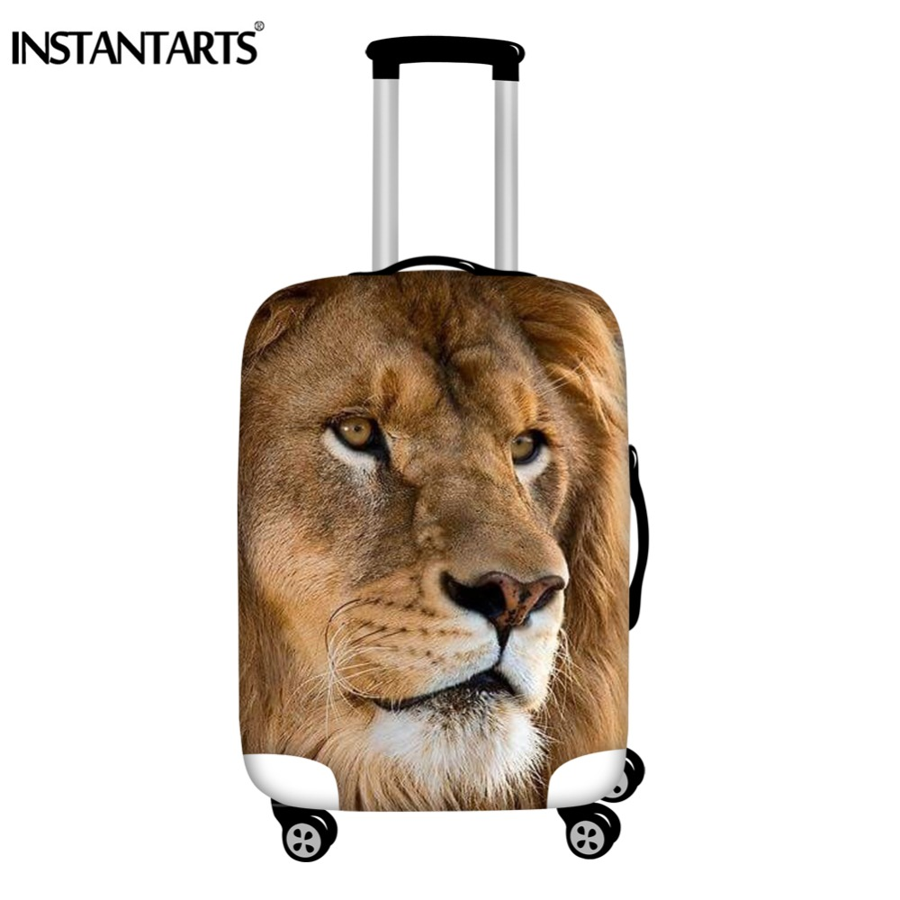 INSTANTARTS 3D Wild Animal Print Trolley Luggage Protective Covers 18