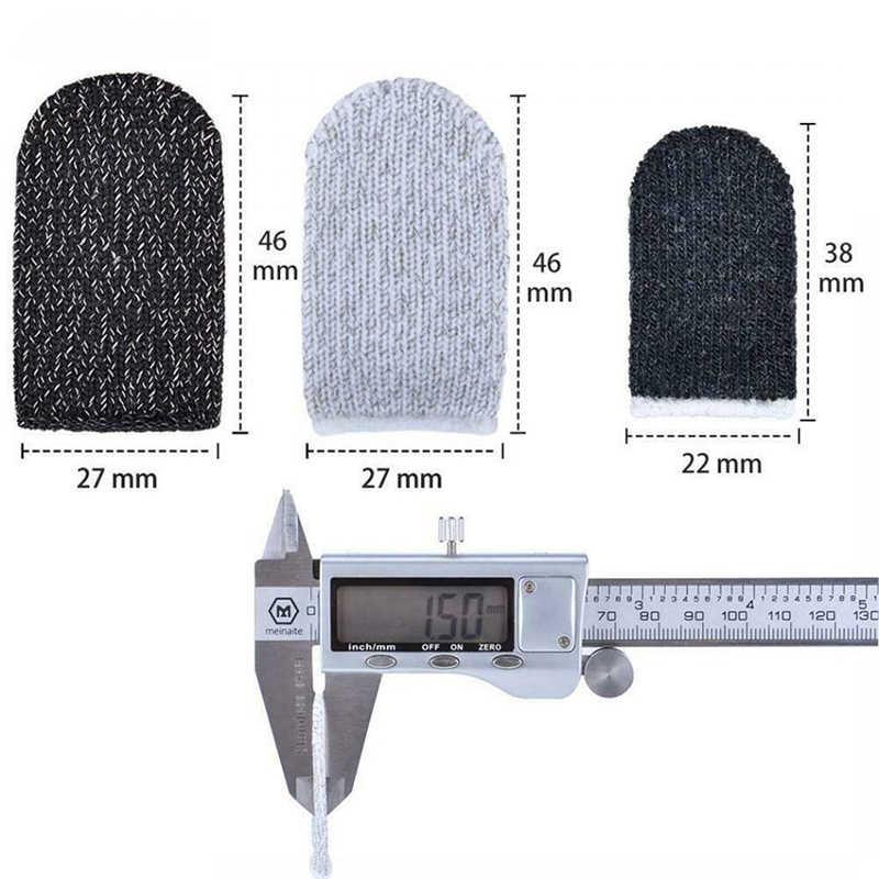 2pcs Dello Schermo di Tocco Mobile Finger Stallo Sensibile Controller di Gioco Sweatproof Traspirante Dito Culle Accessori per Il Iphone Adnroid