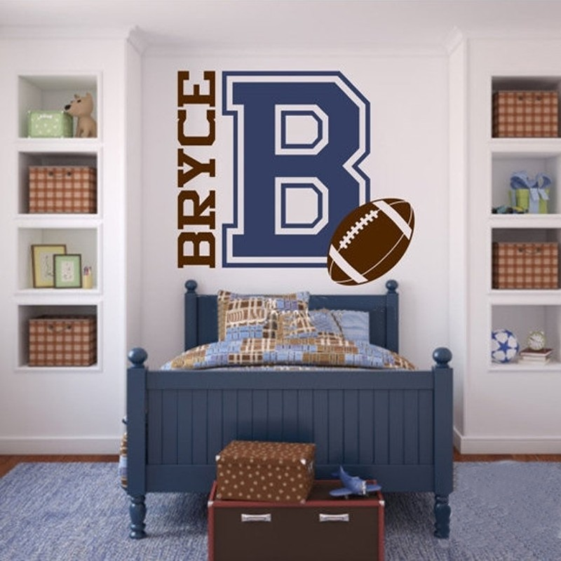 Personalized Name and Football for Teen Boys Bedroom ...