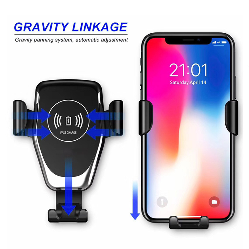 QI Wireless Car Charger Automatic Gravity Air Vent Quick Charge 3.0 Smartphone Holder for Samsung S10 Plus Galaxy Note 9 S9 S8