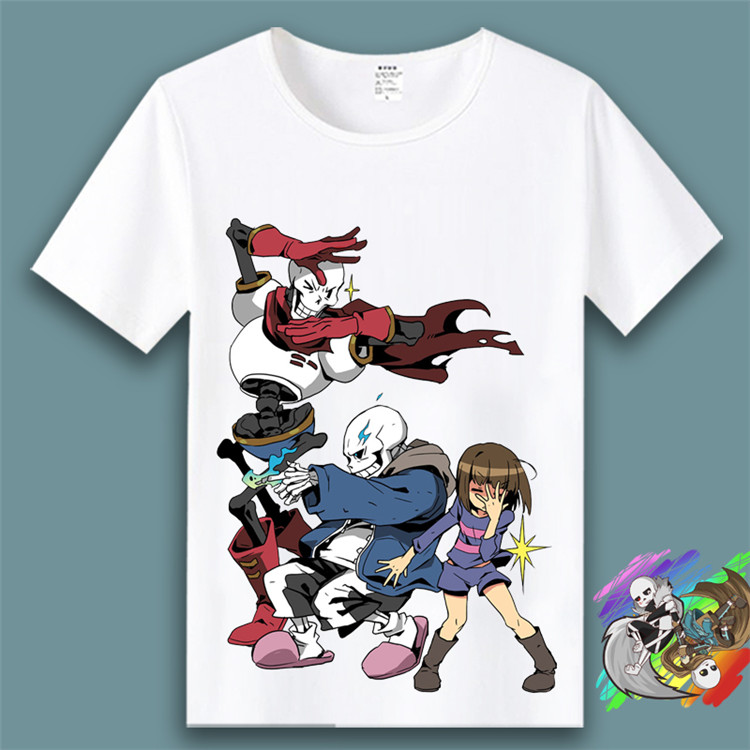 undertale T-shirt cosplay Japanese game animation adult men and women Kids 3D printing Summer fashion leisure T-shirt Costumes