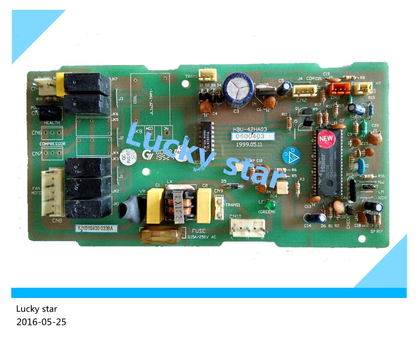 95% new for Air conditioning computer board circuit board KFR-71QW/A 3300281 HBU-42HA03 0600403 good working wire universal board computer board six lines 0040400256 0040400257 used disassemble