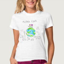 Women Tshirts Drinnk Mother Earth Printed Woman Letter Tee Ladies Female T-