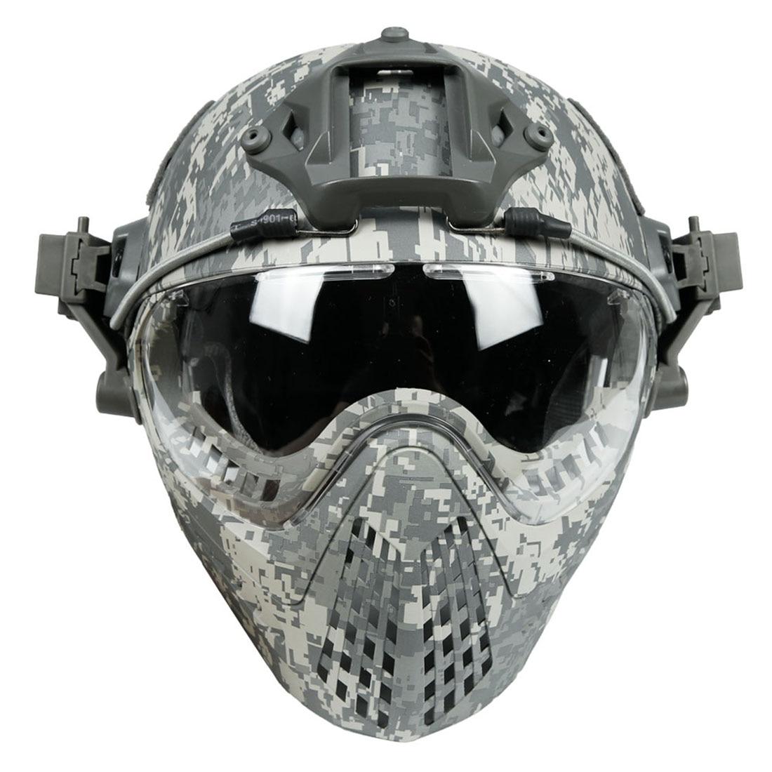WST Navigator Tactics Camouflage Protecting Helmet for Outdoors Activities - ACU Type M rainbow pattern pet dog necktie acu camouflage