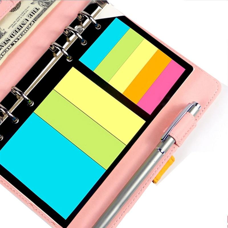 1Pack B5 A5 A6 Sticky Notes Planner Schedule 6 Holes Binder Dairy Memo Divider Sticker For Loose Leaf Binder Spiral Notebook