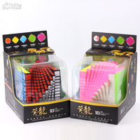 Zhisheng Yuxin Huanglong 10x10x10 Magico Cubo 10x10 Cube Puzzle Professional 10*10 Cube Stickerless Black For Children Toys