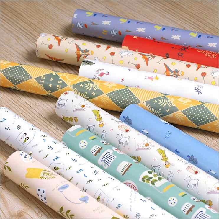 Detail Feedback Questions About Kids Cute Wrapping Paper For Birthday Holiday Forest Friend Vintage Tea Pot Little Prince Gift Wrap Sheet On