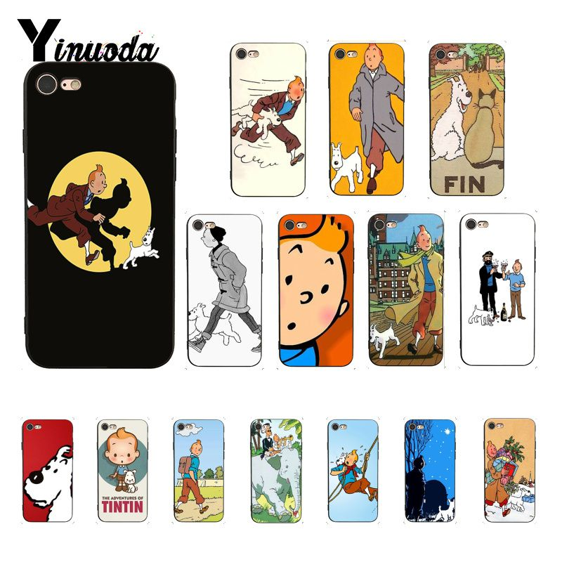 Yinuoda The Adventures of Tintin Luxury Unique Design <font><b>PhoneCase</b></font> for <font><b>iPhone</b></font> 6S 6plus 7 <font><b>7plus</b></font> 8 8Plus X Xs MAX 5 5S XR image