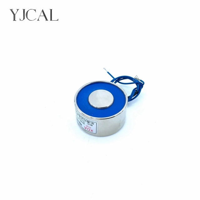 YJ-50/42 Holding Electric Sucker Electromagnet Magnet Dc 12V 24V Suction-cup Cylindrical Lifting 80KG Gallium Metal China