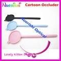 205 K gatinho bonito dos desenhos animados de plástico preto rosa azul Ophthalmic visão de Eye Occluder livre