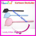 205K Lovely Kitten Design Cartoon Plastic Black Pink Light Blue Ophthalmic Vision Test Eye Occluder Free Shippping