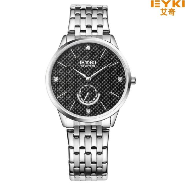 EYKI marca 30 M À Prova D' Água Mens Relógios Top Marca de Luxo Projeto Dois Pontos Segundos Mulheres de Negócios Relógios Relógio Casal Relógio de Quartzo
