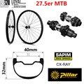 27 5 er Plus DH углеродное колесо для горного велосипеда 40*32 мм бескамерное готовое к спуску эндуро MTB Колесная система DT Swiss 350 втулка qr или Boost